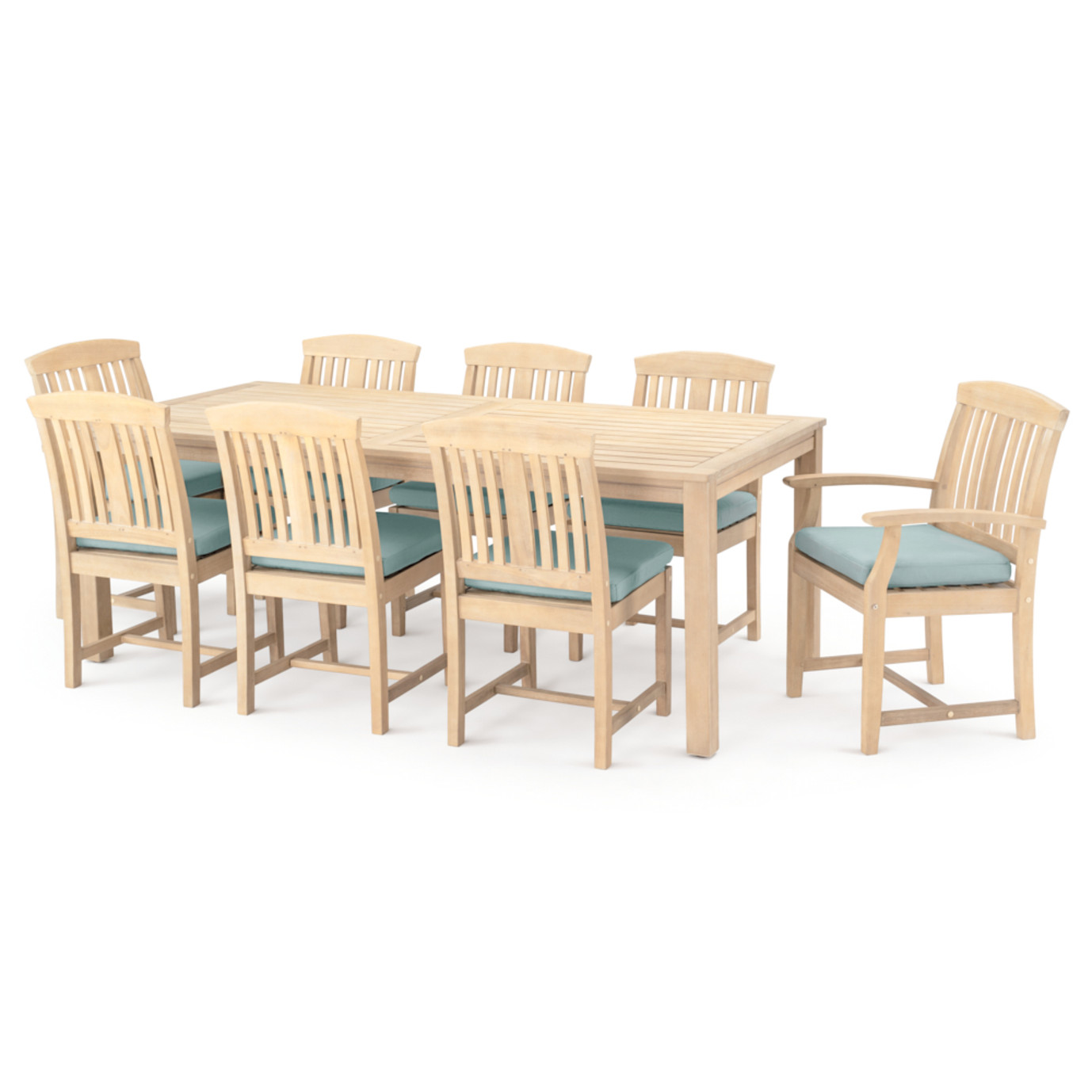 Kooper 9 Piece Outdoor Dining Set - Spa Blue
