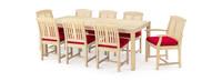 Kooper™ 9 Piece Outdoor Dining Set - Sunset Red