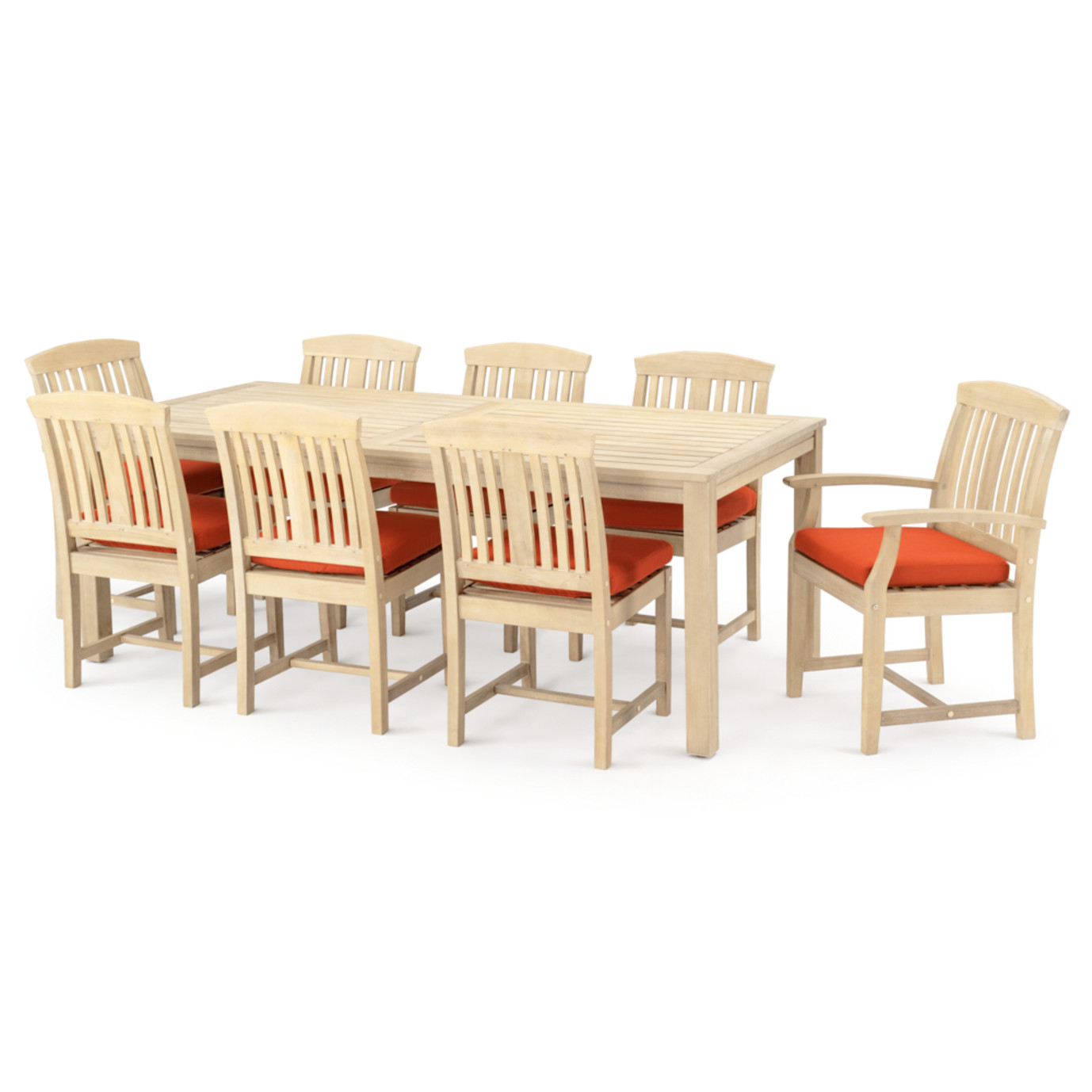 Kooper 9 Piece Outdoor Dining Set - Tikka Orange