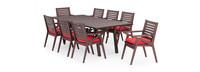 Vaughn™ 9 Piece Dining Set - Sunset Red