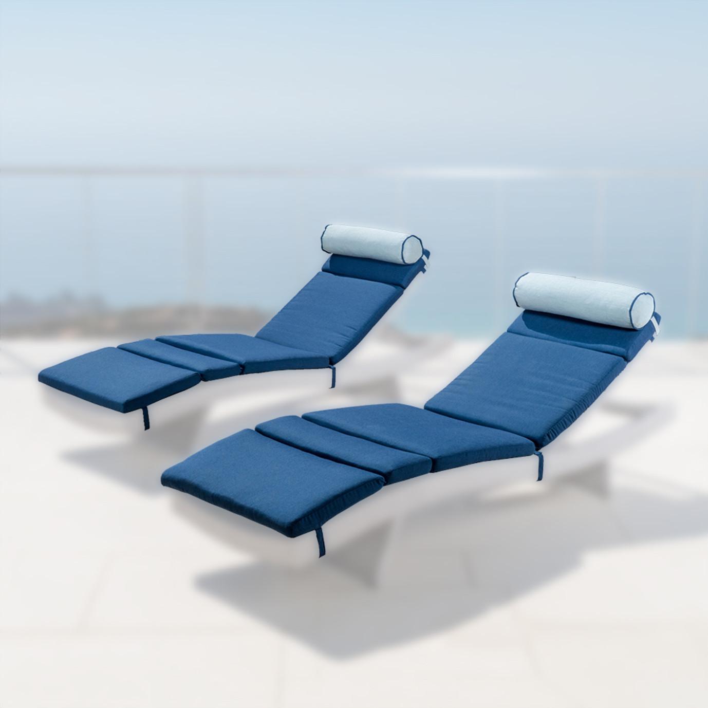 Portofino™ Comfort 2pk Lounger Cushions - Laguna Blue