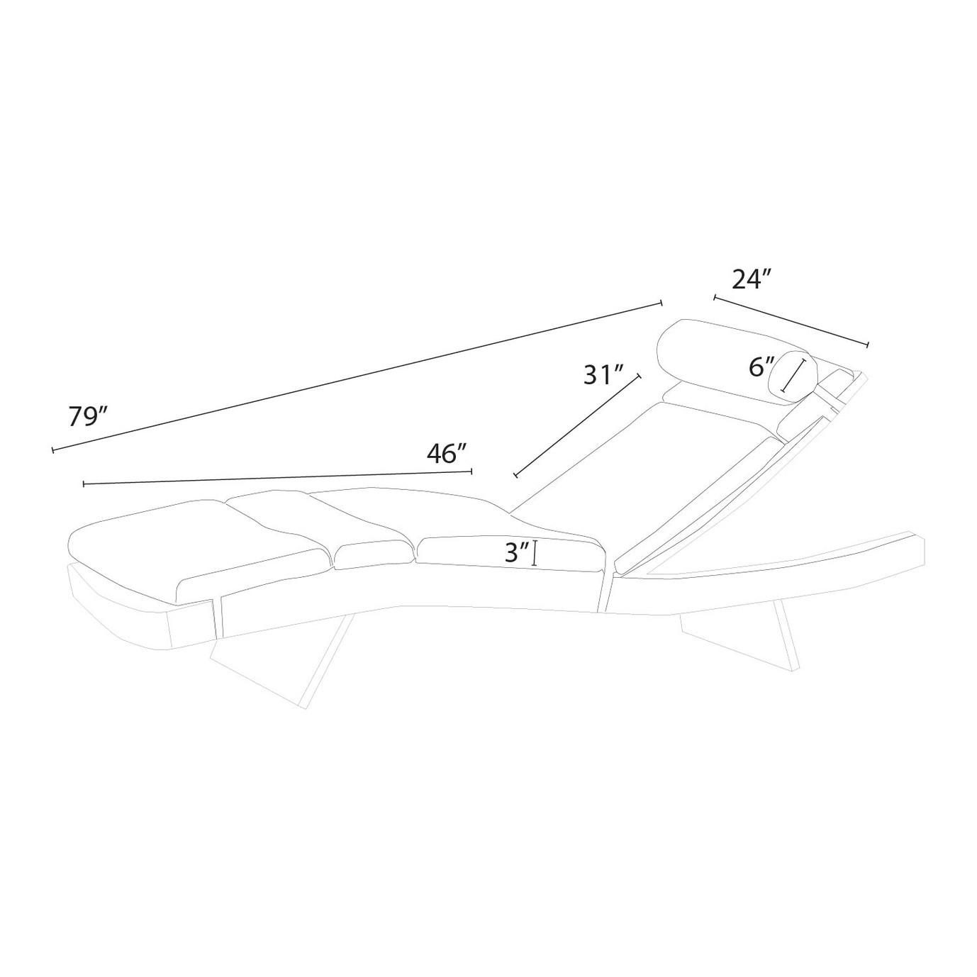 Portofino® Comfort 2pk Lounger Cushions - Taupe Mist
