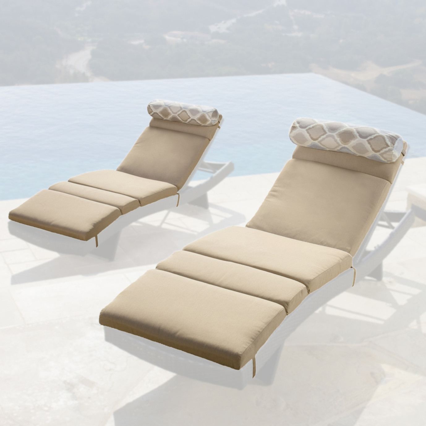 Portofino™ Comfort 2pk Lounger Cushions - Heather Beige