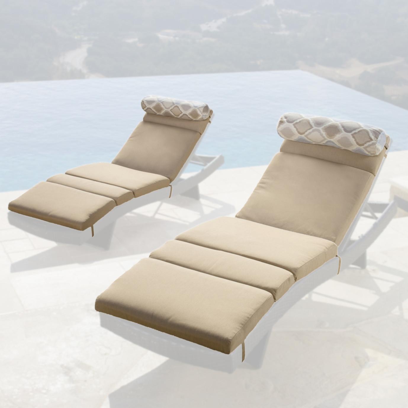 Portofino™ Comfort 2pk Lounger Cushions - Heather Beige