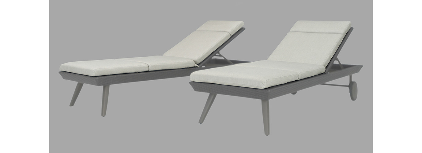 Portofino® Casual 2pk Lounger Cushions - Dove Gray