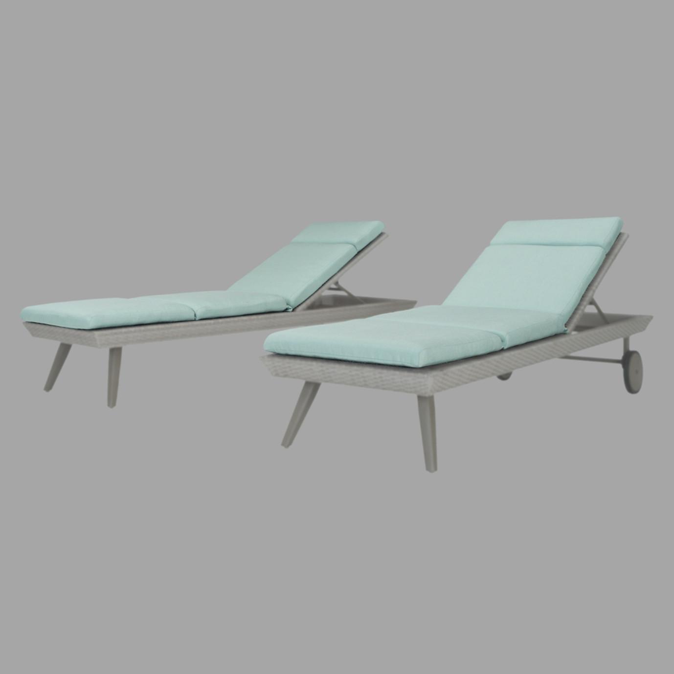 Portofino® Casual 2pk Lounger Cushions - Spa Blue