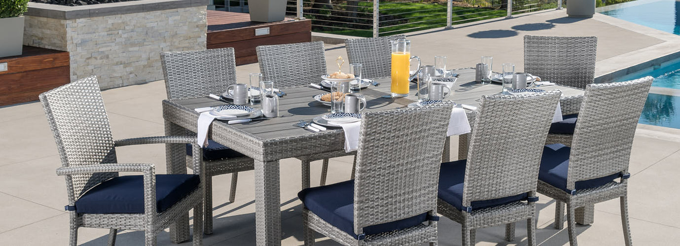 Deco™/Cannes™ Dining Chair Set of 8 Cushion Covers