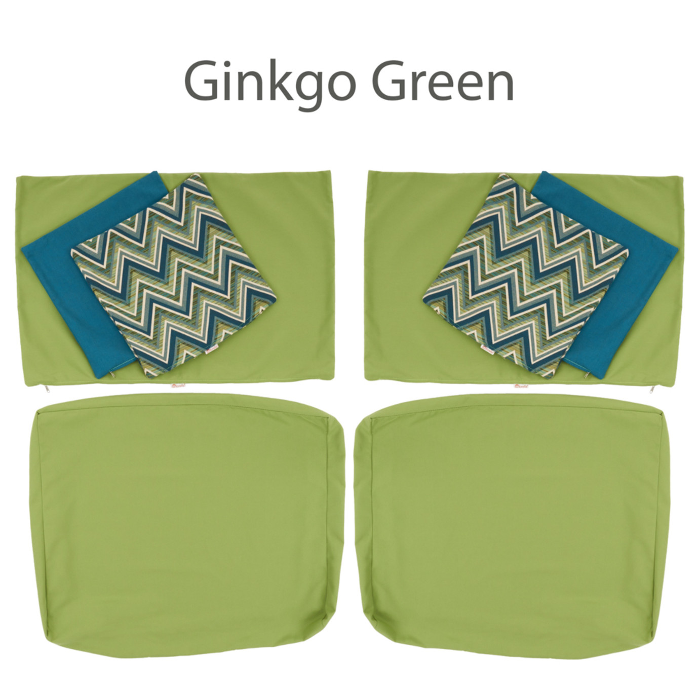 Modular Armless Chair Cushion Covers
