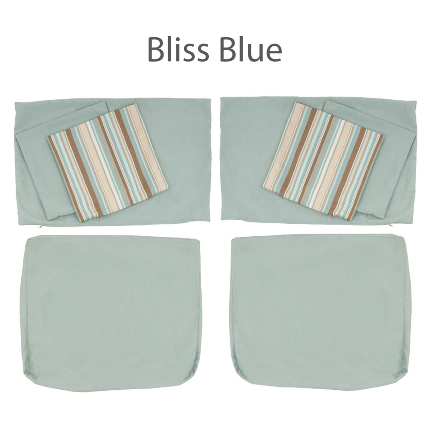 Modular Armless Chair Cushion Covers
