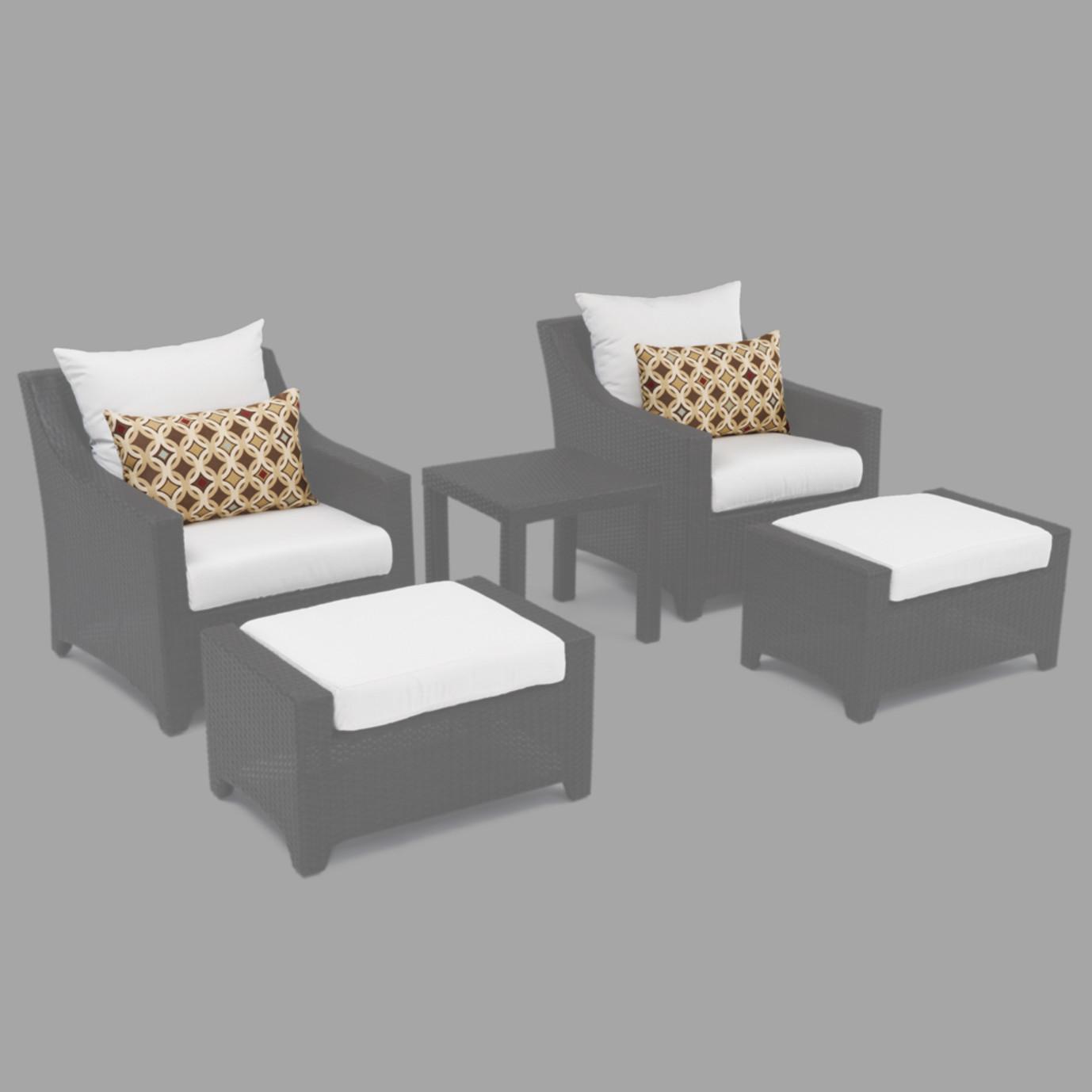 Modular Outdoor 5 Piece Club Cushion Cover Set - Moroccan Cream