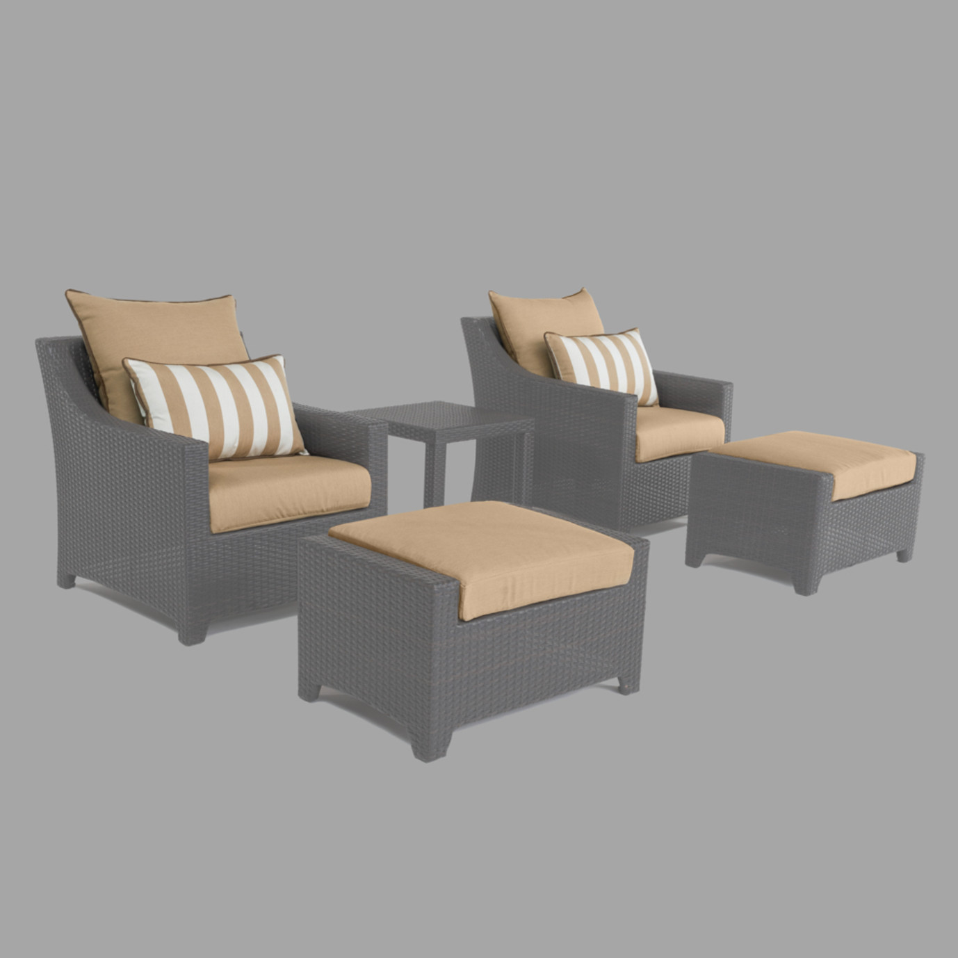 Modular Outdoor 5 Piece Club Cushion Cover Set - Maxim Beige