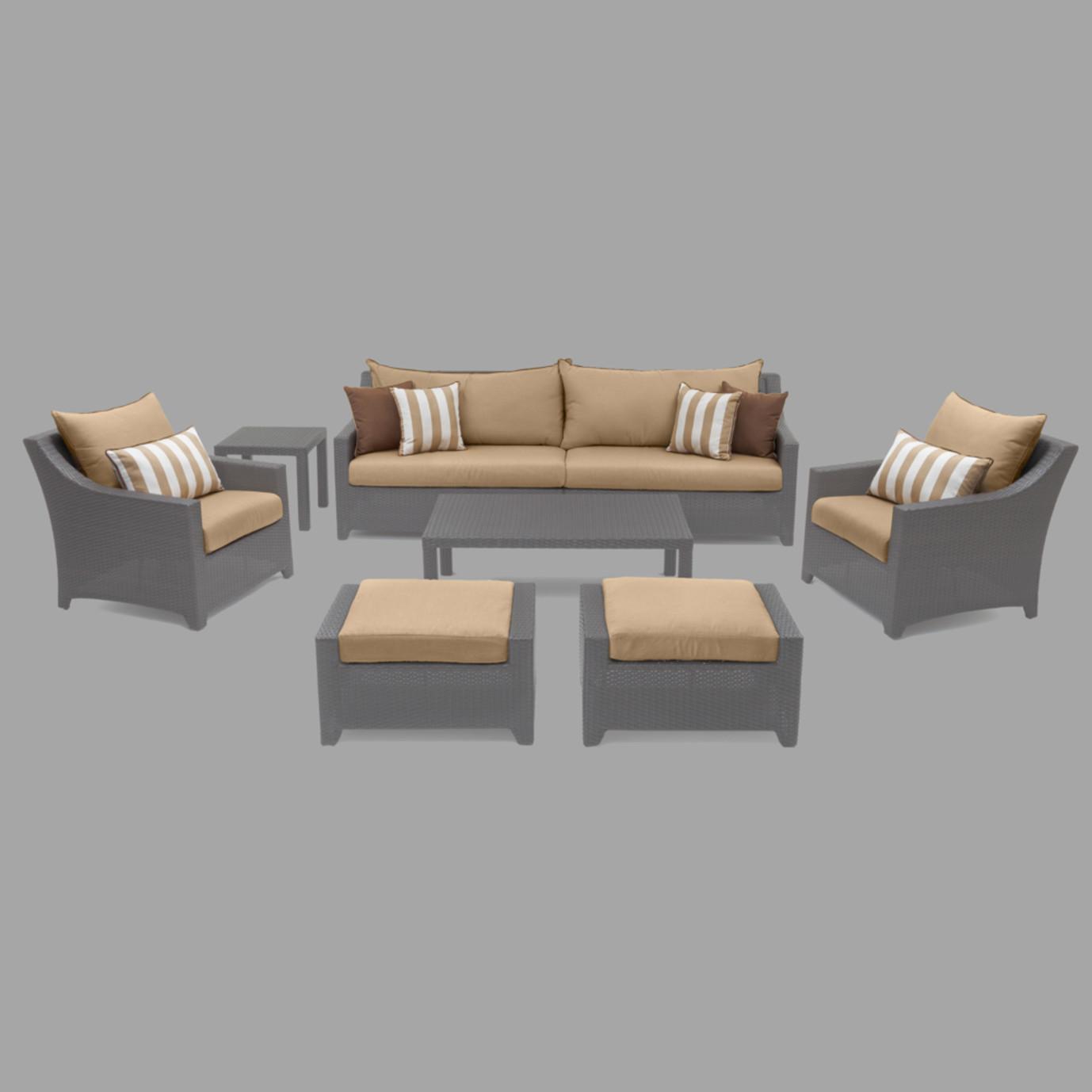 Modular Outdoor 8 Piece Club Cushion Cover Set - Maxim Beige