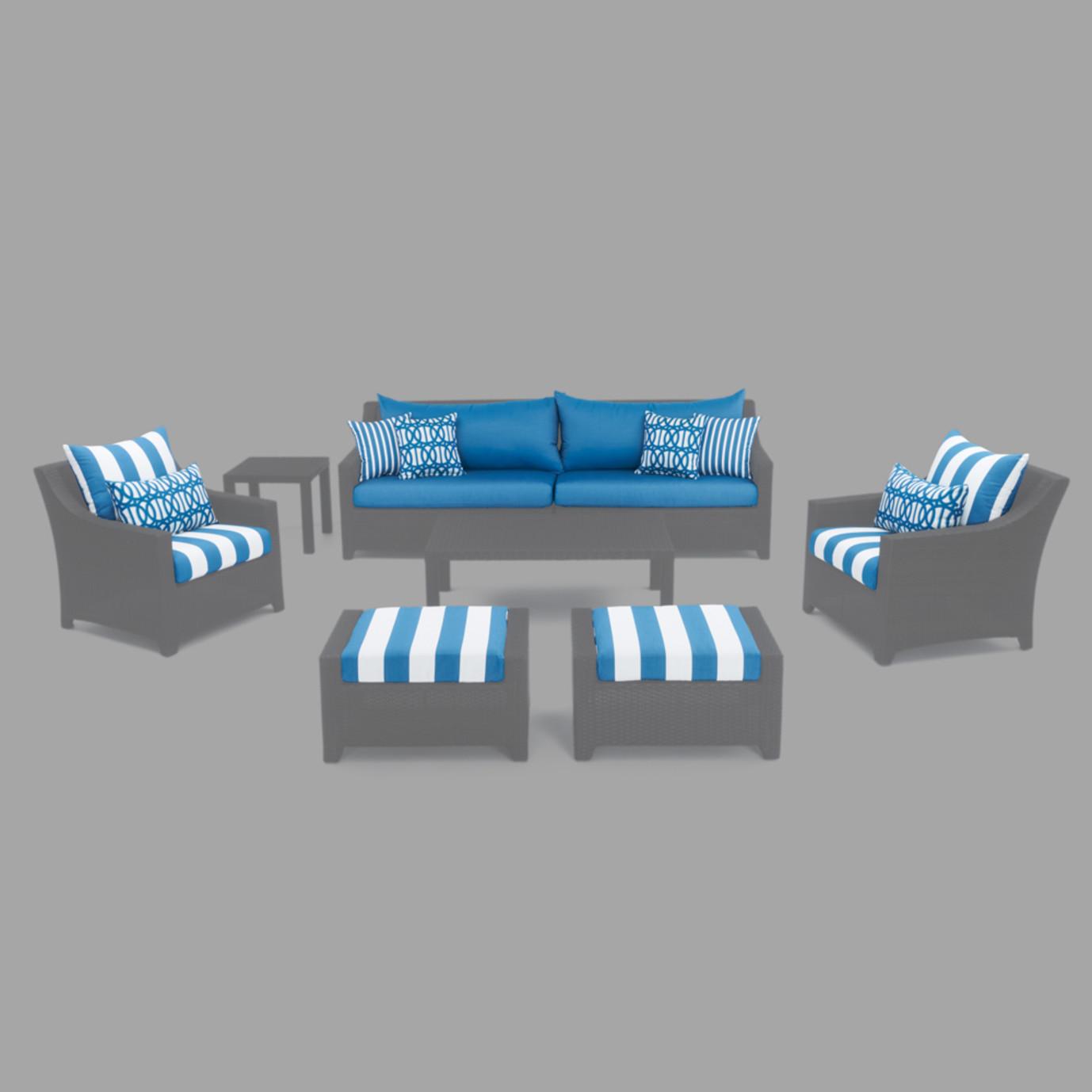 Modular Outdoor 8pc Club Cushion Cover Set - Regatta Blue
