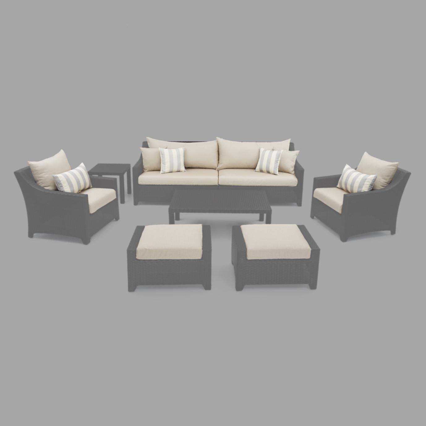 Modular Outdoor 8 Piece Club Cushion Cover Set - Slate Grey