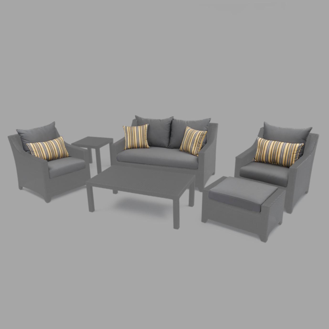 Modular Outdoor 6pc Love Cushion Cover Set - Charcoal Grey