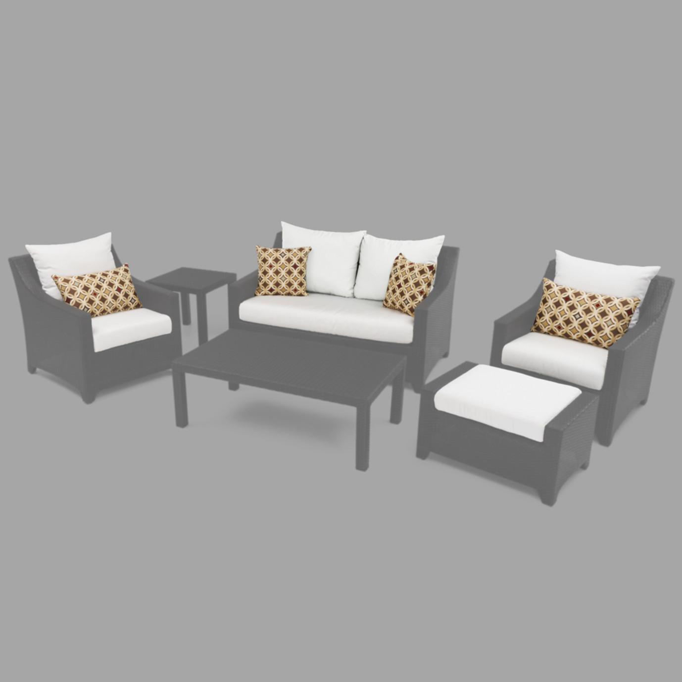 Modular Outdoor 6pc Love Cushion Cover Set - Moroccan Cream
