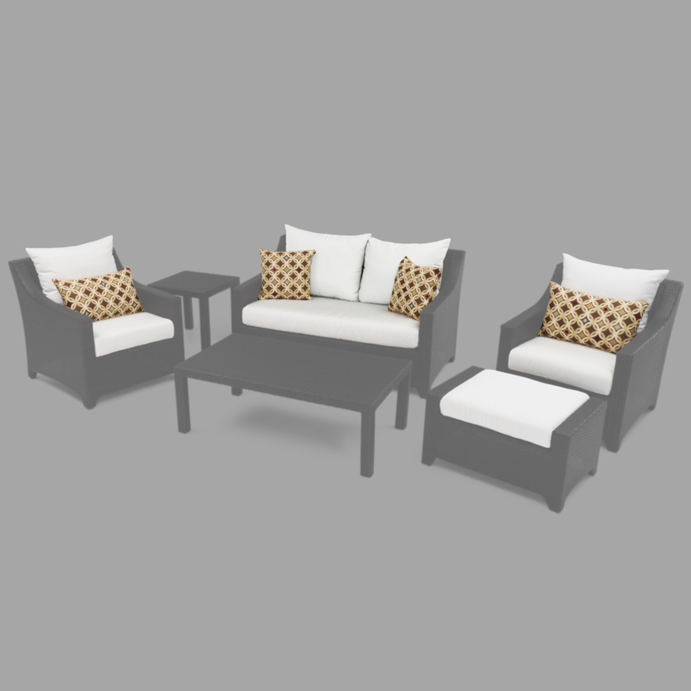 Modular Outdoor 6pc Love Cushion Cover Set - Moroccan Cream