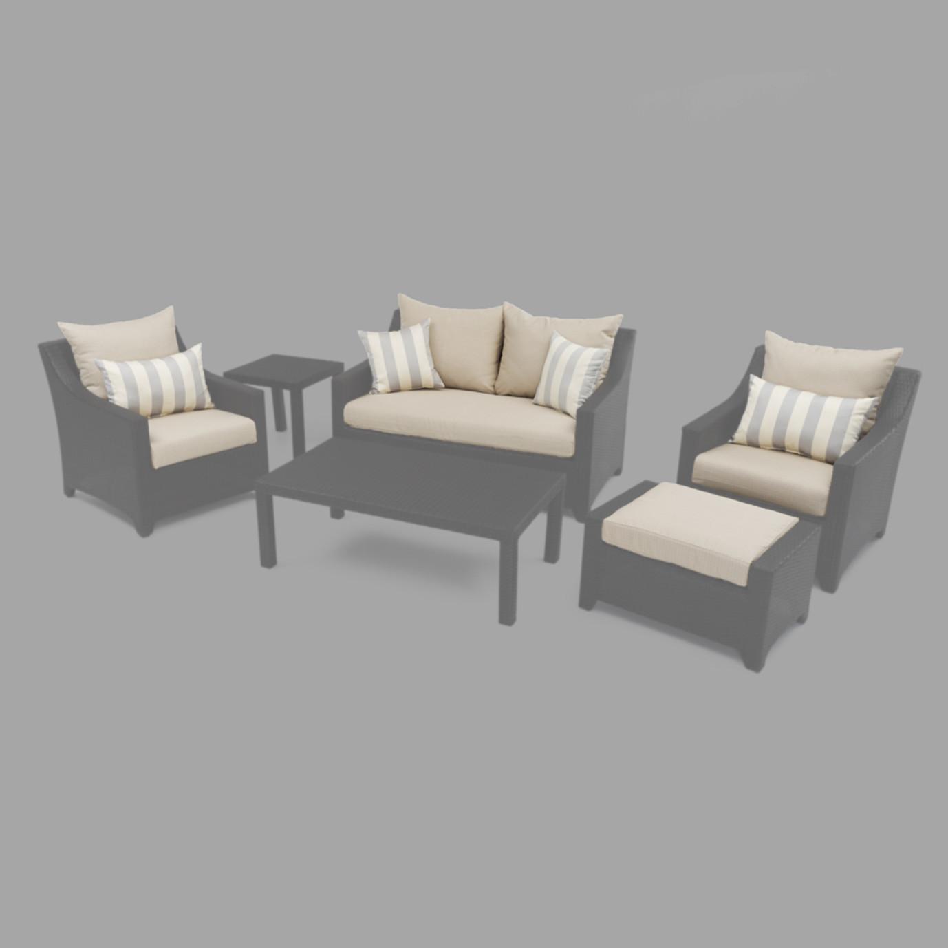 Modular Outdoor 6pc Love Cushion Cover Set - Slate Grey