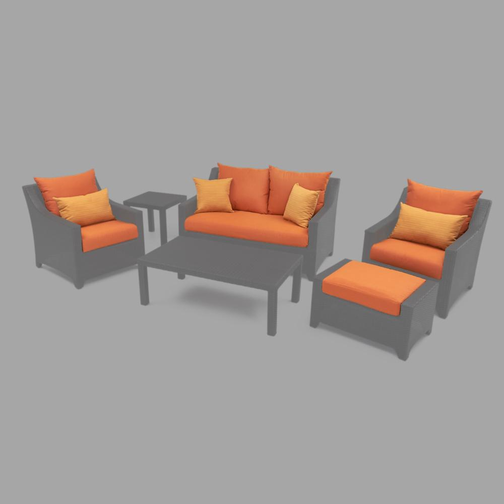 Modular Outdoor 6pc Love Cushion Cover Set - Tikka Orange
