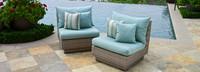 Modular Outdoor Armless Chair Back Cushion