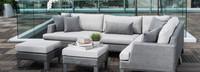 Portofino® Sling Armless Chair Back Cushion - Space Gray