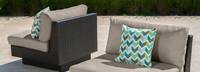 Portofino® Comfort Armless Chair Back Cushion - Taupe Mist