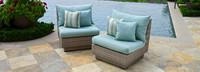 Modular Outdoor Armless Chair Base Cushion