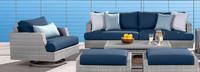 Portofino® Comfort Club Chair Back Cushion - Laguna Blue