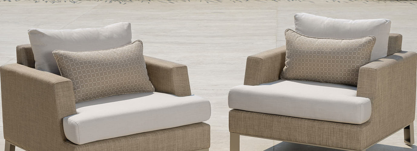 Portofino® Sling Club Chair Back Cushion - Beige Fennel