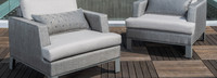 Portofino® Sling Club Chair Base Cushion - Space Gray