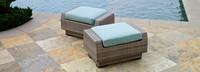 Modular Outdoor Club Ottoman Cushion