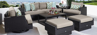 Portofino® Comfort Club Ottoman Cushion - Taupe Mist