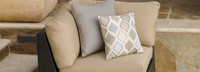 Portofino® Comfort Corner Chair Small Back Cushion - Heather Beige