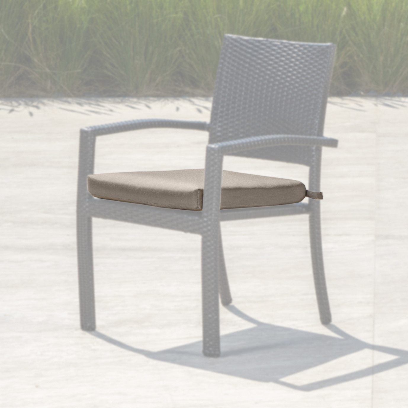 Portofino Comfort Dining Chair Cushion - Taupe Mist