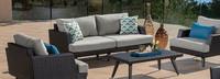 Portofino® Casual 71in Loveseat Back Cushion - Dove Gray