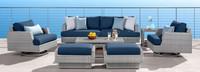 Portofino® Comfort 71in Loveseat Back Cushion - Laguna Blue