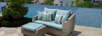 Modular Outdoor Loveseat Back Cushion