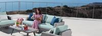 Portofino® Casual 71in Loveseat Back Cushion - Spa Blue