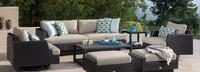 Portofino® Comfort 71in Loveseat Back Cushion - Taupe Mist