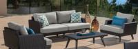 Portofino® Casual 71in Loveseat Left Base Cushion - Dove Gray