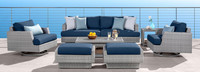 Portofino® Comfort 71in Loveseat Left Base Cushion - Laguna Blue