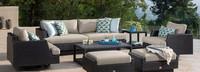 Portofino® Comfort 71in Loveseat Left Base Cushion - Taupe Mist
