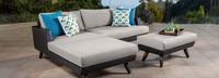 Portofino® Casual 3pc Chaise Left Base Cushion - Dove Gray