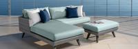 Portofino® Casual 3pc Chaise Left Base Cushion - Spa Blue