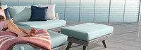 Portofino® Casual 3pc Chaise Ottoman Cushion - Spa Blue