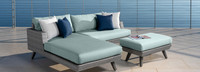 Portofino® Casual 3pc Chaise Right Base Cushion - Spa Blue