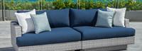 Portofino® Comfort 96in Sofa Back Cushion - Laguna Blue