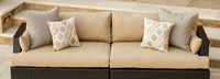 Portofino® Comfort 96in Sofa Left Base Cushion - Heather Beige