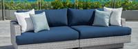 Portofino® Comfort 96in Sofa Left Base Cushion - Laguna Blue