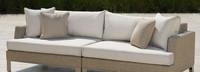 Portofino® Sling 96in Sofa Left Base Cushion - Beige Fennel
